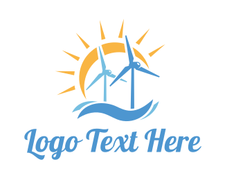 Mill - Sun Wind Surf logo design