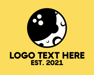 Hole - Bowling Moon logo design
