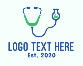Medical Research - Medical Stethoscope Laboratory logo design