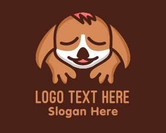 Sleepy - Sleeping Dog logo design