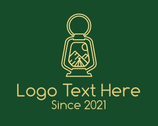 Hut - Camping Night Lamp logo design