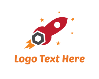 Fix - Red Tool Rocket logo design