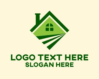 Lawn - Green Field House logo design