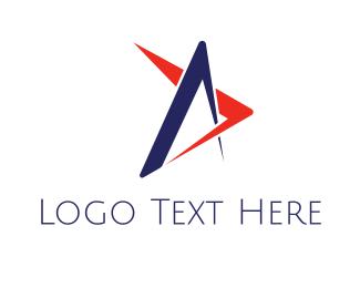 Astral - Geometric Star logo design