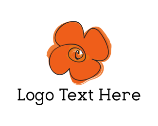 Orange Flower Logo