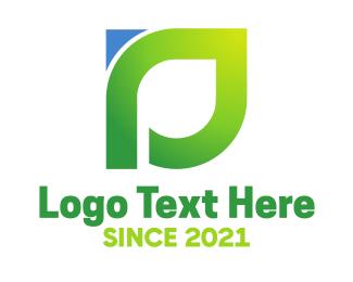 Lines - Green Modern D logo design