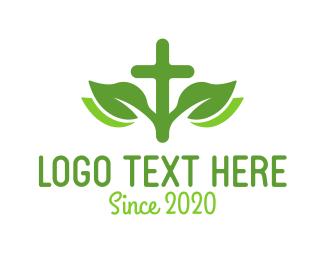 Christianity - Christianity Cross Leaf logo design