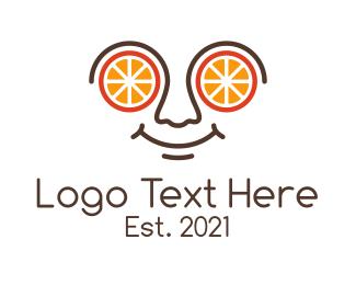 Specs - Orange Citrus Spectacles logo design