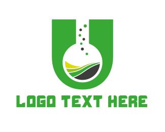 Letter U - Chemical Letter U logo design