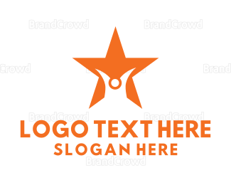 Celebrity - Abstract Person Star logo design