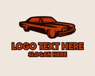 Auction - Red Automotive Vintage Car logo design