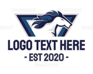Horse - White Horse logo design