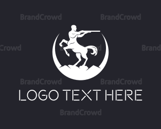 Fiction - Centaur Guns logo design