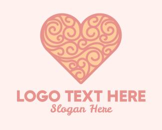 Swirls - Heart Ornament logo design