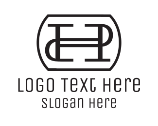 Letterform - H & P logo design