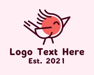 Baby Bird - Baby Parrot Bird logo design