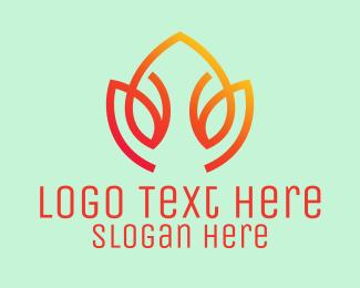 Spa - Orange Lotus Flower Spa  logo design