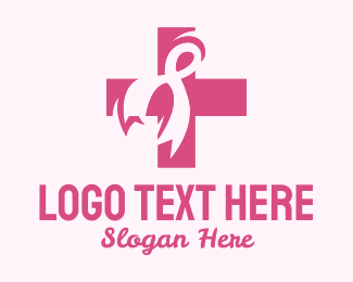 Breast - Breast Cancer Ribbon logo design