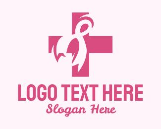 Awareness - Breast Cancer Ribbon logo design