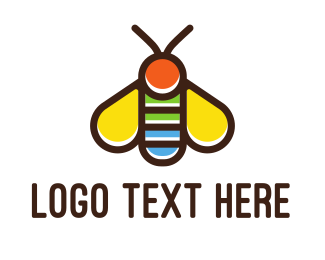 Bumblebee - Colorful Fly logo design