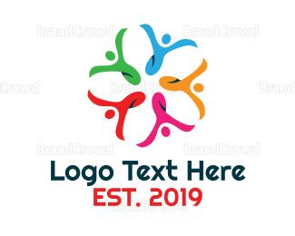 Crowd - Colorful Unity  logo design
