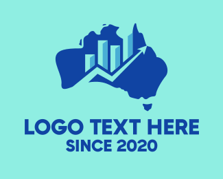 Stock - Australian Economy Map logo design