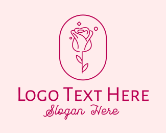 Fashion - Rose Flower logo design