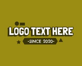 Childhood - Kiddie Playful Shape Text logo design