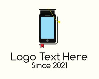 Online Learning - Online Mobile Learning logo design
