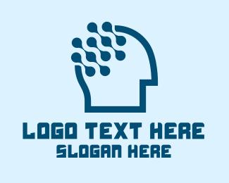 Artificial Intelligence - Medical Brain Technology logo design