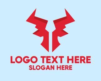 Clan - Digital Red Bull Clan logo design