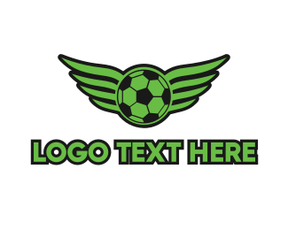 """Soccer Wing"" by LogoBrainstorm"