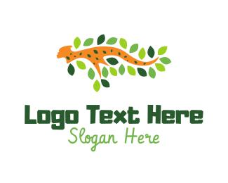 African - Feline Branch logo design