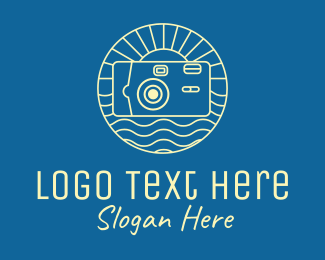 Photo Studio - Vacation Film Camera  logo design