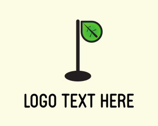 Twig - Leaf Lamp logo design
