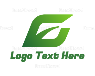 Ecosystem - Gradient Green Leaf E logo design