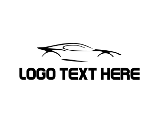 Sports Car - Black Car logo design
