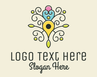 Swirls - Location Pin Tree logo design