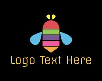 Vibrant - Color Bee logo design