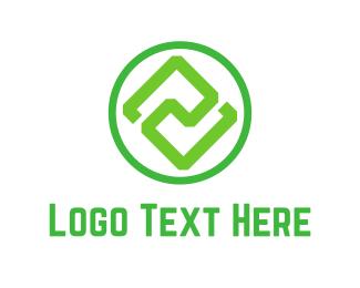Symmetry - Green Symmetry logo design