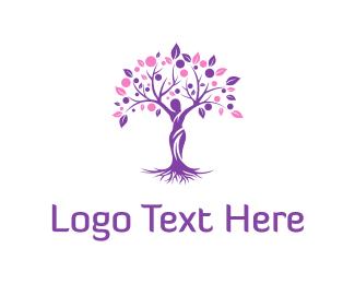Leaf - Woman Tree logo design