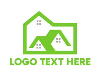 Green City - Green Box House logo design