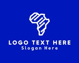 Tour - Africa Map logo design