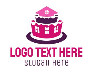Cake Shop - House Cake logo design