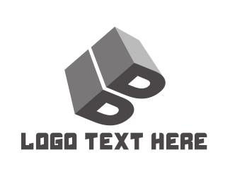 Solid - Grey Letter B logo design