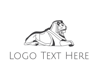 Brandy - Egyptian Lion  logo design