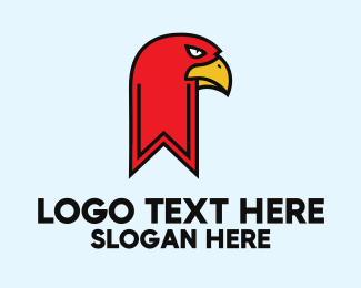 Hawk - Bookmark Hawk logo design
