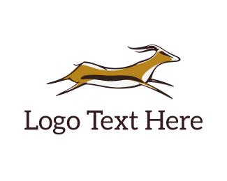 Hunting - Jumping Gazelle logo design