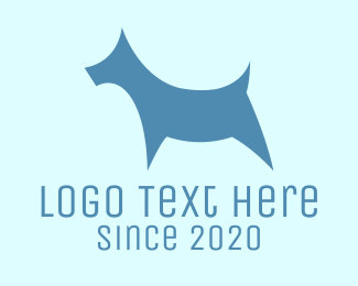 Blue Puppy - Blue Dog logo design