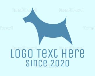 Dog Walking - Blue Dog logo design